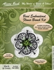 BEADING KITS > Beaded Brooch - Flower - Black and Green