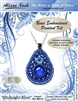 BEADING KITS > Bead Embroidered Pendant - Midnight Blue