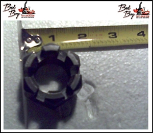 1-14 Hex Castle Nut Plain - Bad Boy Part # 013-7004-00