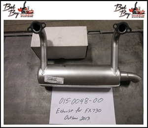 Exhaust for FS730V Outlaw 2013 Bad Boy Part# 015-0048-00