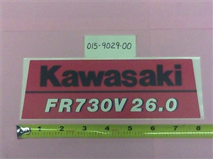 Kawasaki FR730V 26.0 Decal Bad Boy Part# 015-9029-00