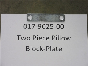 Two Piece Pillow Block-Plate Bad Boy Part# 017-9025-00