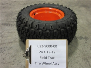24x12x12 Wheel&Field Trax Assembly - Bad Boy Part# 022-9000-00