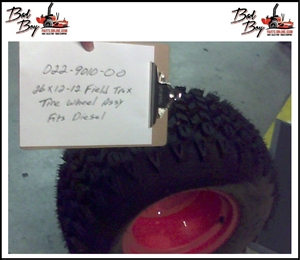 26x12x12 Wheel&Field Trax Assembly - Bad Boy Part# 022-9010-00
