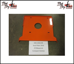 Seat Plate, Bad Boy Part# 028-1016-00