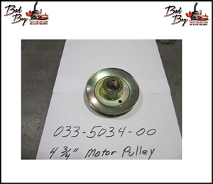 4 3/4 Motor Pulley - DB74-601 - Bad Boy Part # 033-5034-00