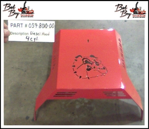 Diesel Hood 4cyl - Bad Boy Part # 059-8010-00
