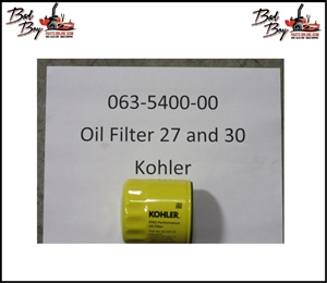 Oil Filter - 27 & 30 Kohler - Bad Boy Part # 063-5400-00