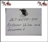 Rollover Valve and Grommet, Bad Boy Part# 067-6070-00