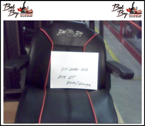 2014 ZT Seat Black/Orange - Bad Boy Part # 071-2040-00