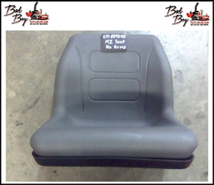 Gray MZ Seat-no Arms/Slide - Bad Boy Part # 071-8095-00 OBSELETE, USE PART NUMBER 071-9001-00