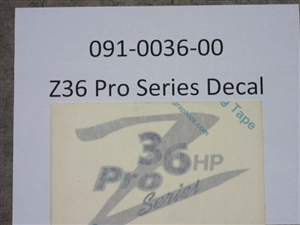 Z36 Pro Series Decal - Bad Boy Part # 091-0036-00