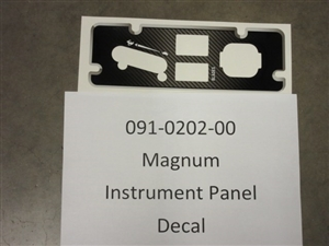 Magnum Instrument Panel Decal - Bad Boy Part # 091-0202-00