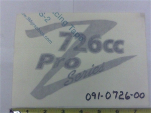 Z 726cc Pro Series Decal - Bad Boy Part # 091-0726-00