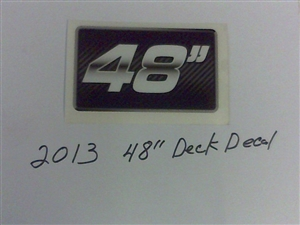 "2013 cZT/ZT/MZ Deck Decal-48"" - Bad Boy Part # 091-0903-00"