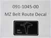 MZ Belt Route Decal - Bad Boy Part # 091-1045-00