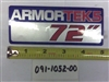 "72"" ARMORTEK Deck Decal - Bad Boy Part # 091-1052-00"