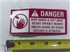 Danger Decal-Spindle/Discharge - Bad Boy Part # 091-3012-00