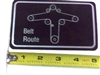 091-3309-00 Deck Belt Route Decal