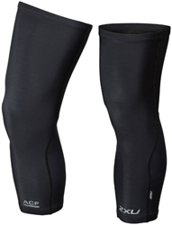 2XU Thermal Cycle Knee Warmers, Black, Pair, UC5432b