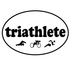 Oval Decal, Triathlete and Figures