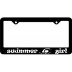 Swimmer Girl License Plate Frame