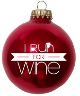 Run for Wine Ornament
