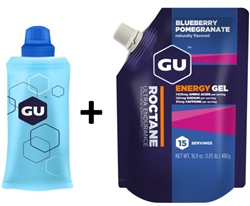 GU Roctane Gel Pouch + Flask Package