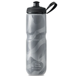 Polar Bottle Sport Insulated Bottle, Contender Charcoal, Silver