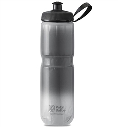 Polar Bottle Sport Insulated Bottle, Fade Charcoal, Silver