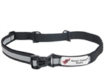 Rocket Science Sports Reflective Race Belt, Black
