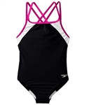 Speedo Solid Splice Swimsuit