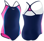 Speedo Girls Heather Thin Strap Swimsuit, 7714700