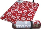 T Mat Pro Triathlon Transition Mat, Red Hibiscus