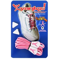 Yankz! Sure Lace System, Pink Ribbon