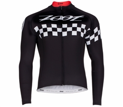 Zoot Men's Cycle Cali Thermo LS Jersey, Black Checker