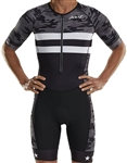 Zoot Men's Carbon Camo Tri Short Sleeve Aero Racesuit