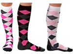 Zensah Argyle Compression Socks, Pair