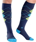 Zensah Argyle Classic Compression Socks, Pair