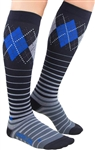 Zensah Argyle Stripe Compression Socks, Pair