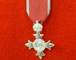 Sterling Silver MBE Miniature Medal