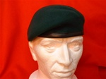Royal Marine Commando Leather Banded Beret ( RMC Silk Lined Beret ) Military Beret