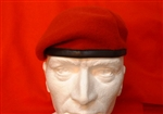 RMP Beret ( Leather Banded Silk Lined Red Beret )