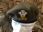 Royal Welsh Regiment Beret + Badge Warrant Officers Beret and Badge