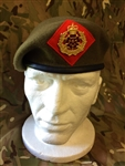 The Duke of Lancaster`s Regiment Beret + Metal Badge Officers OR`S Beret