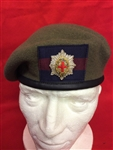 Coldstream Guards Officers Beret + Officers Badge + Guards Patch