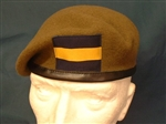Princess of Wales Royal Regiment Beret (  PWRR Leather Banded Beret )