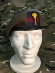 Officers Welsh Guards Beret ( WG Leather Banded Silk Lined Beret ) + Officers Bullion Wire Beret Badge