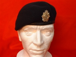Royal logistic Corps Beret + RLC Metal Cap Badge ( Leather Banded Silk Lined military Beret )
