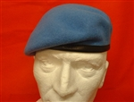 United Nations Leather Banded Silk Lined Beret ( UN Military Beret )